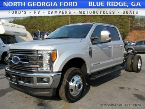 Ingot Silver 2017 Ford F350 Super Duty Lariat Crew Cab 4x4 Chassis