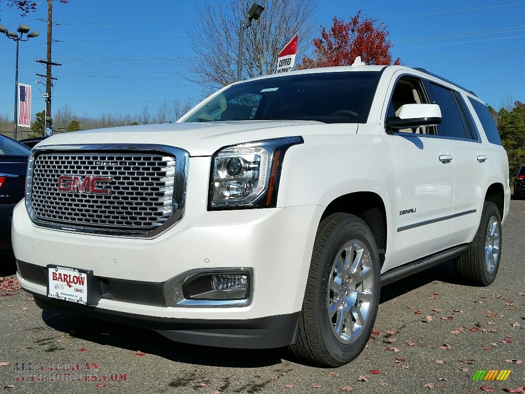 2017 gmc yukon denali 4wd in white frost tricoat 120947. Black Bedroom Furniture Sets. Home Design Ideas
