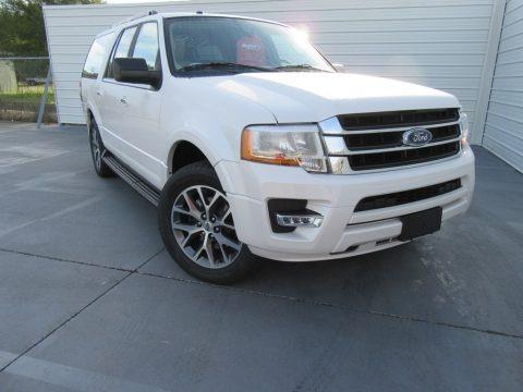 White Platinum 2017 Ford Expedition EL XLT
