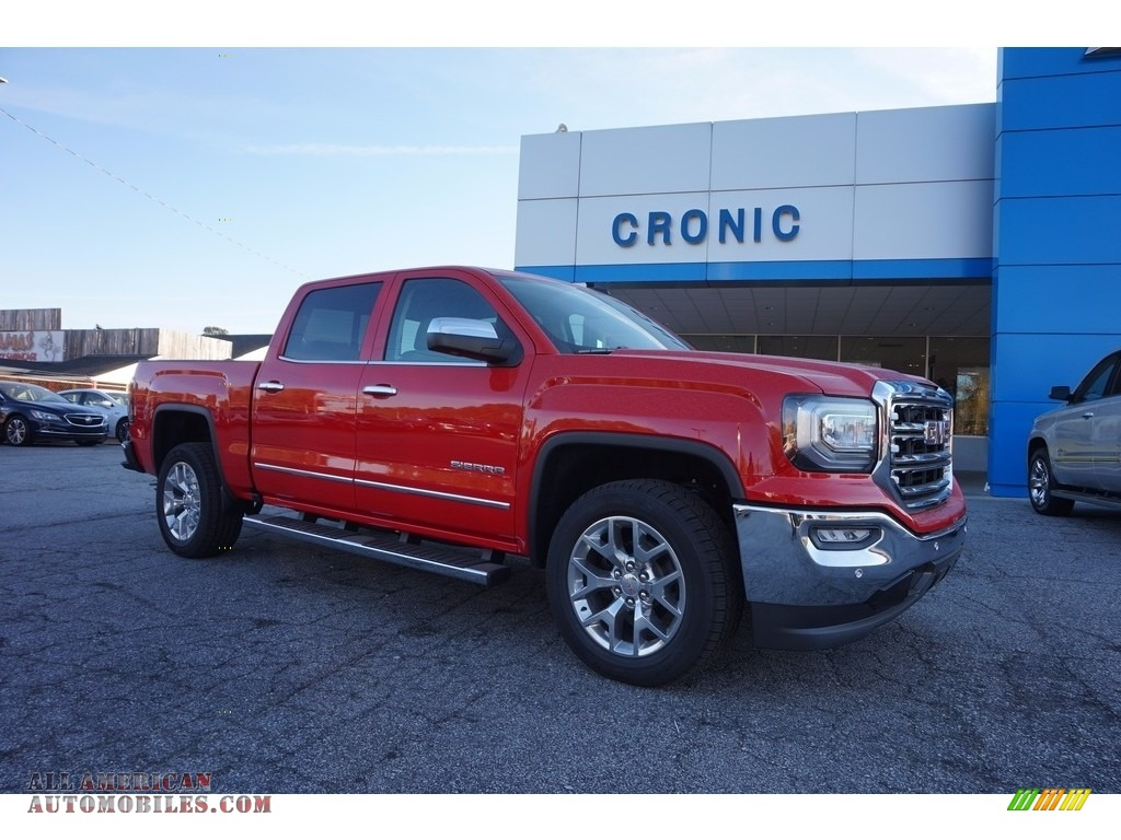 2017 gmc sierra 1500 slt crew cab in cardinal red 216124. Black Bedroom Furniture Sets. Home Design Ideas