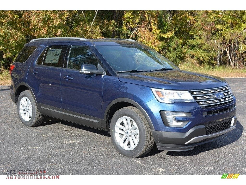 2017 ford explorer xlt in blue jeans b27098 all american automobiles buy american cars for. Black Bedroom Furniture Sets. Home Design Ideas