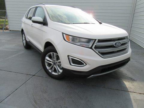 White Platinum Metallic 2017 Ford Edge SEL