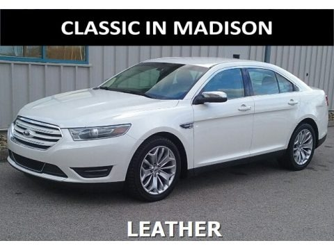 White Platinum Metallic 2015 Ford Taurus Limited