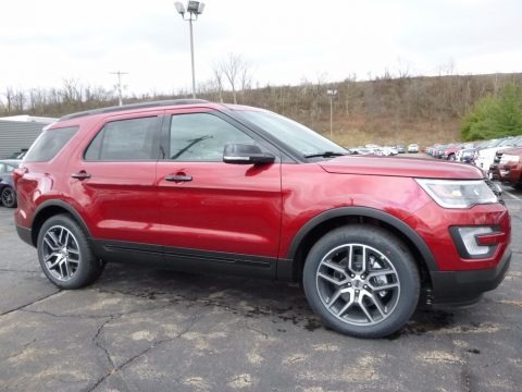Ruby Red 2017 Ford Explorer Sport 4WD