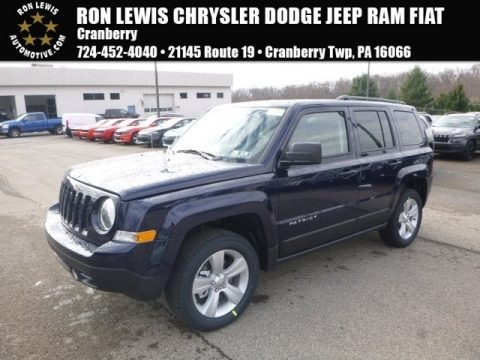 True Blue Pearl 2017 Jeep Patriot Latitude 4x4