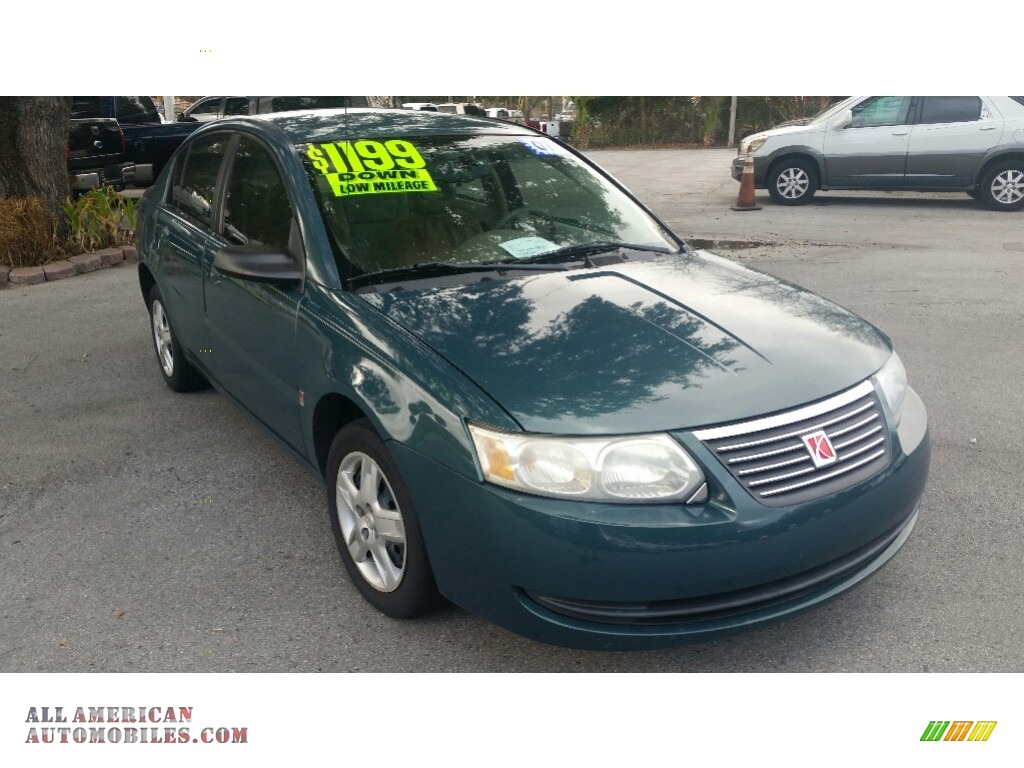2007 ION 2 Sedan - Cypress Green / Tan photo #1