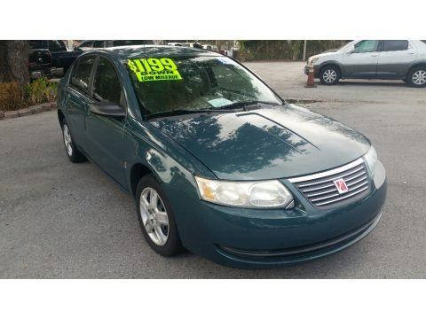 Cypress Green 2007 Saturn ION 2 Sedan