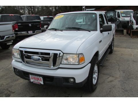 Oxford White 2007 Ford Ranger XLT SuperCab 4x4