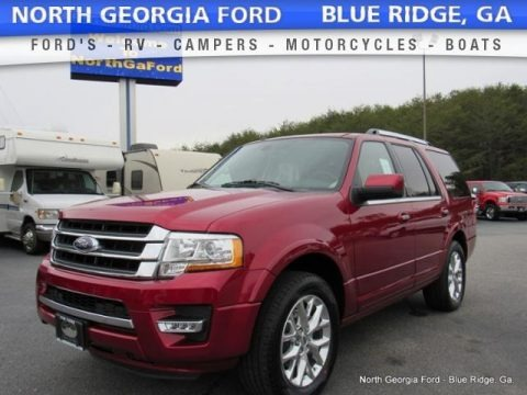 Ruby Red 2017 Ford Expedition Limited