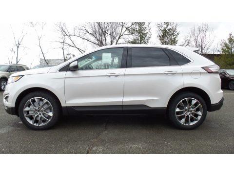 White Platinum Metallic 2017 Ford Edge Titanium AWD