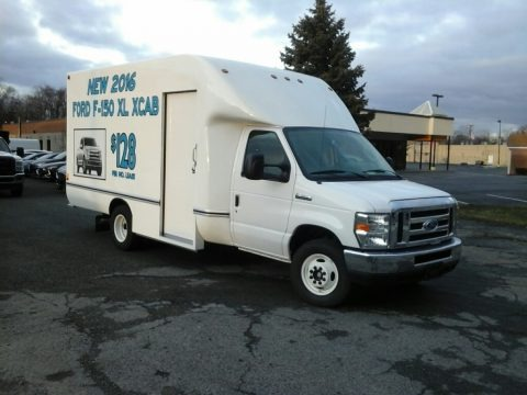 Oxford White 2017 Ford E Series Cutaway E350 Cutaway Commercial Moving Truck