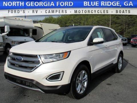 White Platinum Metallic 2017 Ford Edge SEL AWD