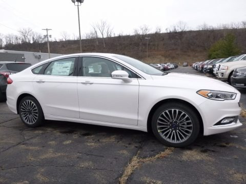 White Platinum 2017 Ford Fusion SE AWD