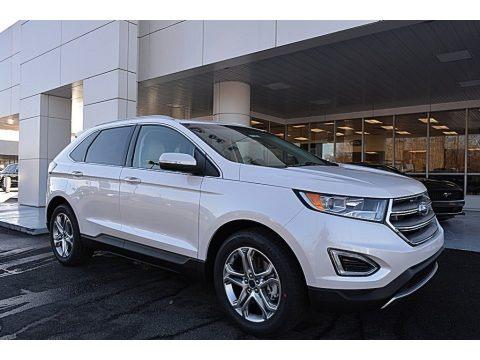 White Platinum Metallic 2017 Ford Edge Titanium