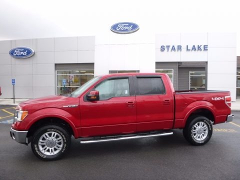 Red Candy Metallic 2010 Ford F150 Lariat SuperCrew 4x4