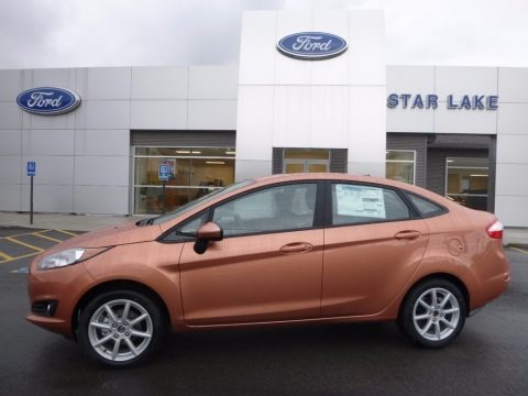 Chrome Copper 2017 Ford Fiesta SE Sedan
