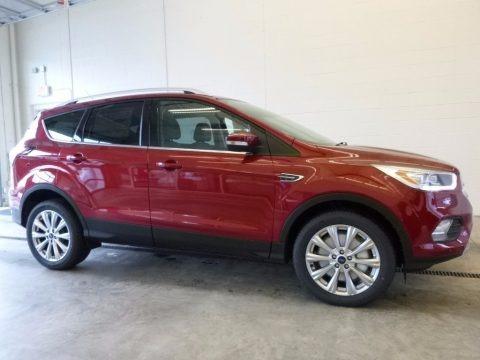 Ruby Red 2017 Ford Escape Titanium 4WD
