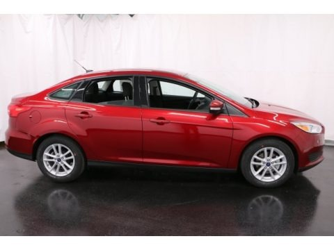 Ruby Red 2017 Ford Focus SE Sedan