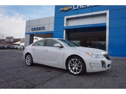 White Frost Tricoat 2017 Buick Regal GS
