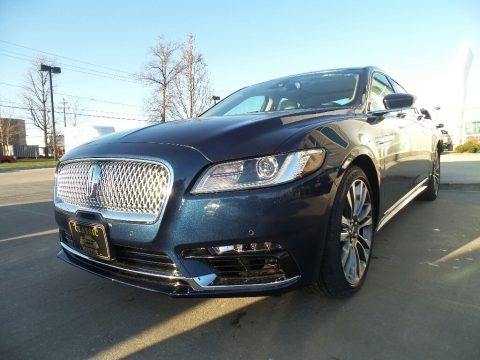 Midnight Sapphire Blue 2017 Lincoln Continental Reserve