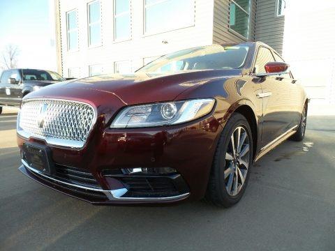 Burgundy Velvet 2017 Lincoln Continental Premier