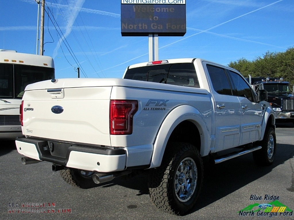 2017 F150 Tuscany FTX Edition Lariat SuperCrew 4x4 - White Platinum / Black photo #5