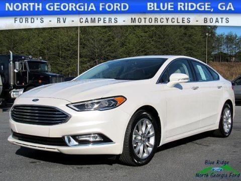 White Platinum 2017 Ford Fusion SE