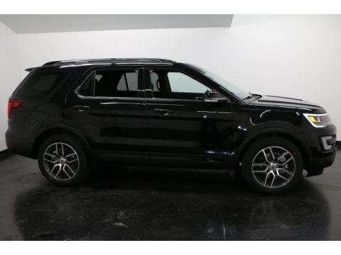 Shadow Black 2017 Ford Explorer Sport 4WD