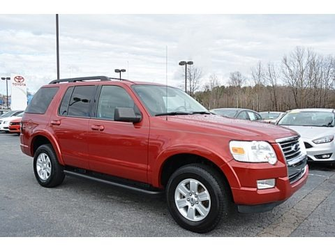 Sangria Red Metallic 2010 Ford Explorer XLT 4x4