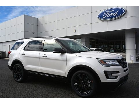 White Platinum 2017 Ford Explorer XLT 4WD