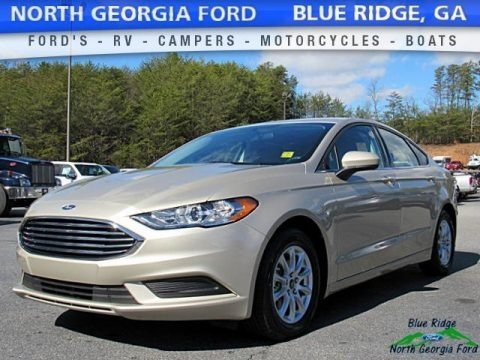 White Gold 2017 Ford Fusion S