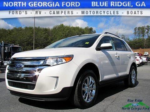 White Platinum 2014 Ford Edge Limited AWD