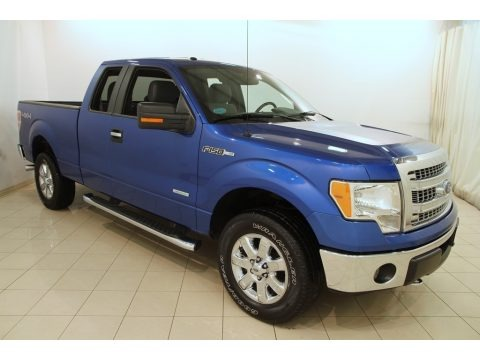 Blue Flame Metallic 2013 Ford F150 XLT SuperCab 4x4