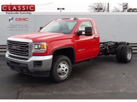 Cardinal Red 2017 GMC Sierra 3500HD Regular Cab Chassis