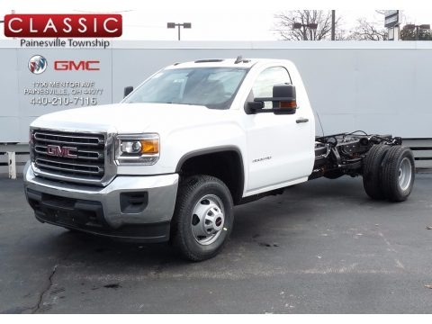 Summit White 2017 GMC Sierra 3500HD Regular Cab Chassis