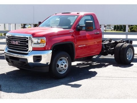Cardinal Red 2017 GMC Sierra 3500HD Regular Cab Chassis 4x4