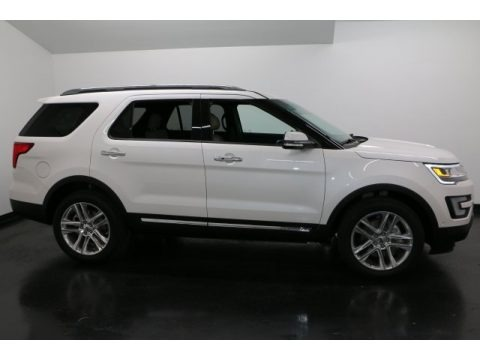 White Platinum 2017 Ford Explorer Limited 4WD