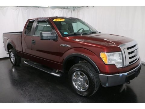 Royal Red Metallic 2010 Ford F150 XLT SuperCab 4x4