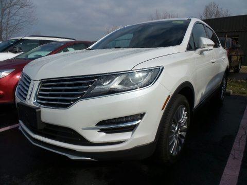 White Platinum 2017 Lincoln MKC Reserve AWD