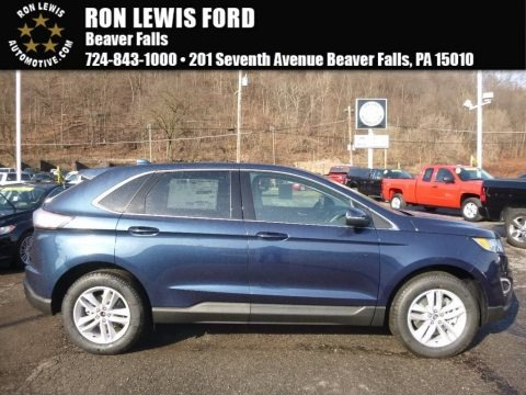 Blue Jeans Metallic 2017 Ford Edge SEL AWD