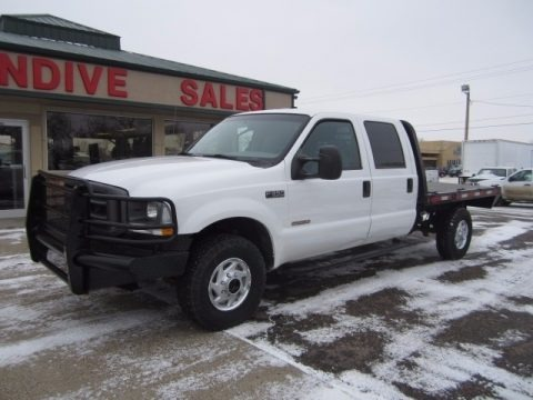 Oxford White 2004 Ford F350 Super Duty XL Crew Cab 4x4