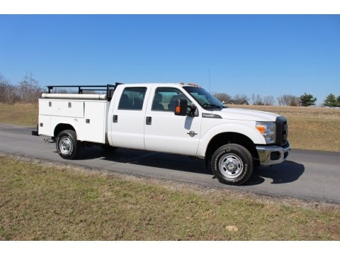 Oxford White 2013 Ford F350 Super Duty XL Crew Cab 4x4