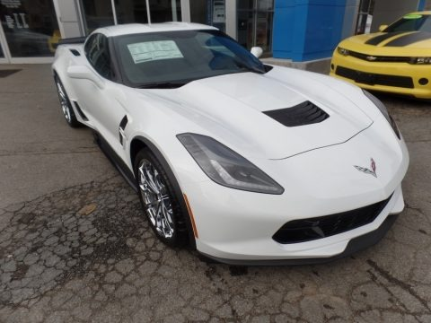 Arctic White 2017 Chevrolet Corvette Grand Sport Coupe