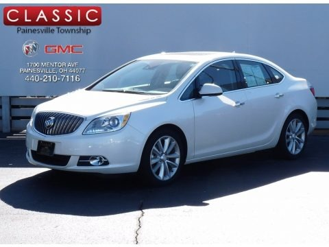 White Diamond Tricoat 2014 Buick Verano Leather