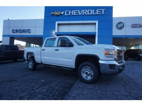 Summit White 2017 GMC Sierra 2500HD Crew Cab