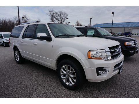 White Platinum 2017 Ford Expedition EL Limited 4x4