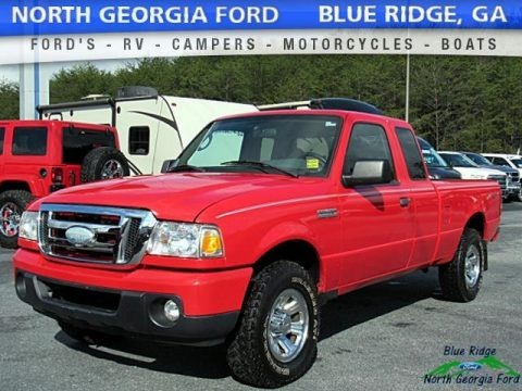 Redfire Metallic 2008 Ford Ranger XL SuperCab 4x4