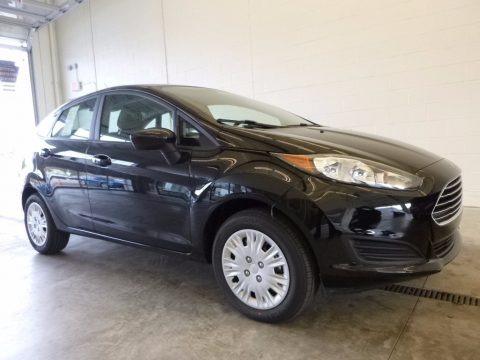 Shadow Black 2017 Ford Fiesta S Sedan