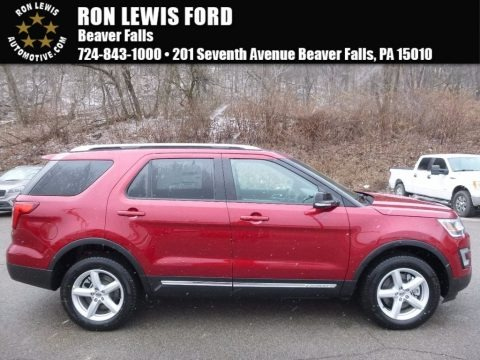 Ruby Red 2017 Ford Explorer XLT 4WD