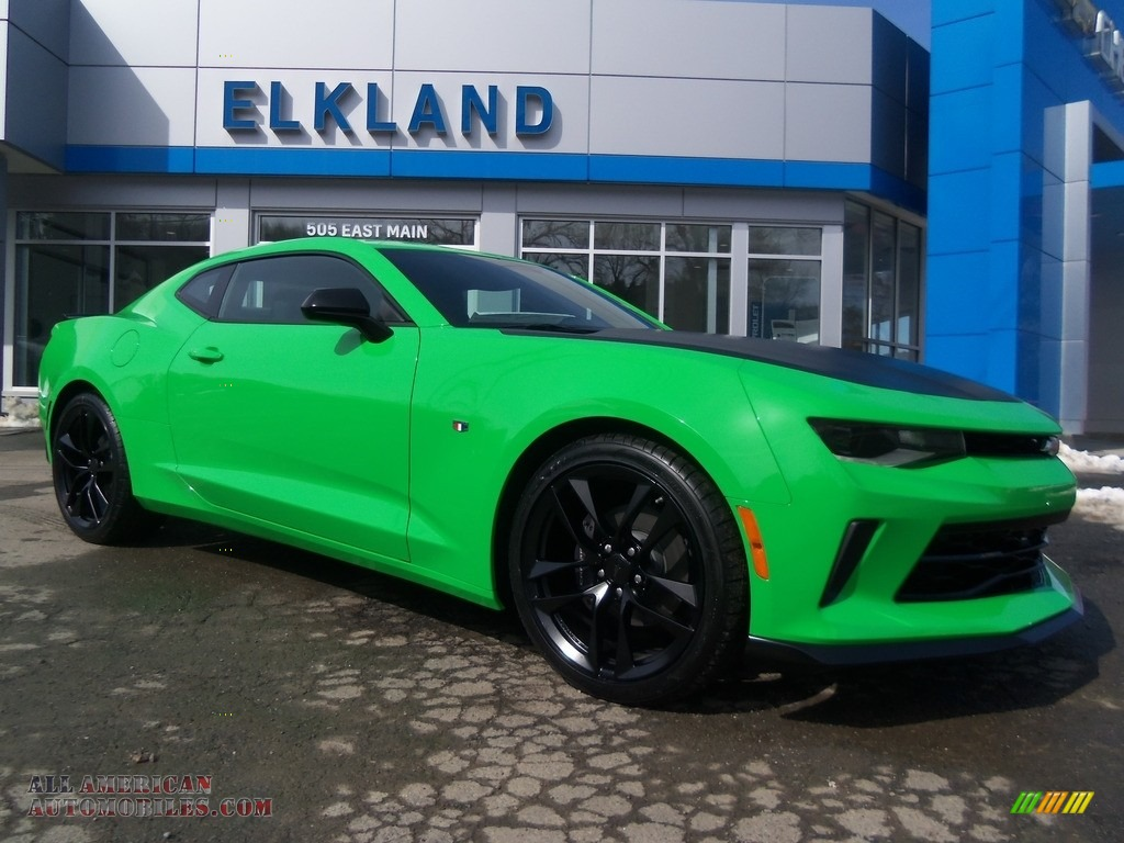 2017 Camaro LT Coupe - Krypton Green / Jet Black photo #1